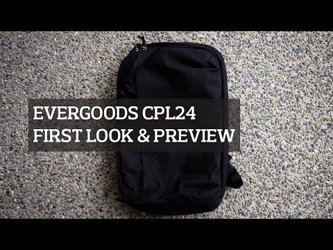 EVERGOODS CPL24 (Civic Panel Loader 24L) Backpack First Look & Preview