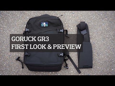 GORUCK GR3 Travel Backpack First Look & Preview
