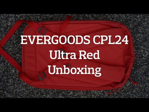 EVERGOODS CPL24 (Civic Panel Loader 24L) Backpack Ultra Red Unboxing & Preview