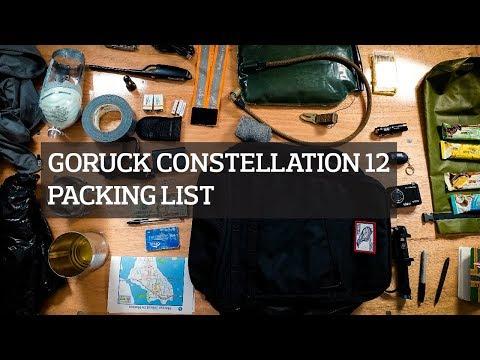 GORUCK Constellation 12 Event Packing List 2018 Urban Survival Challenge Series
