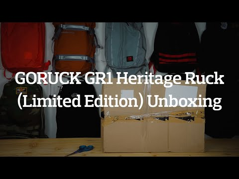 GORUCK GR1 Heritage (Limited Edition) 21L Backpack Unboxing