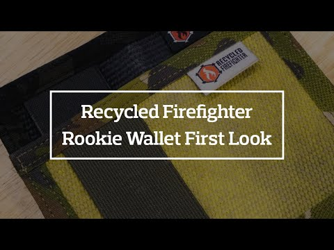 Recycled Firefighter Rookie Minimalist Wallet First Look + Giveaway