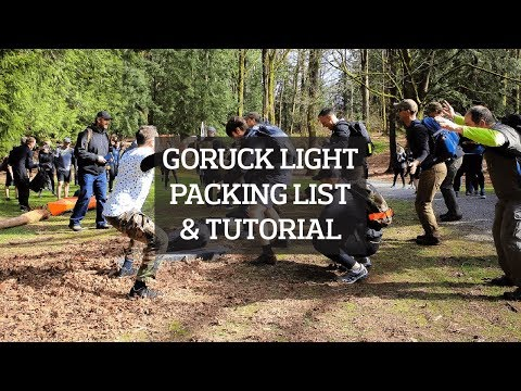 GORUCK Light Challenge Event Ruck Packing List & Walk Through