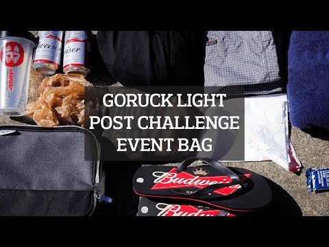 GORUCK Light Post Challenge Event Bag Packing List
