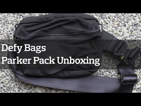 Defy Bags Parker Pack Waxed Canvas Unboxing & Preview