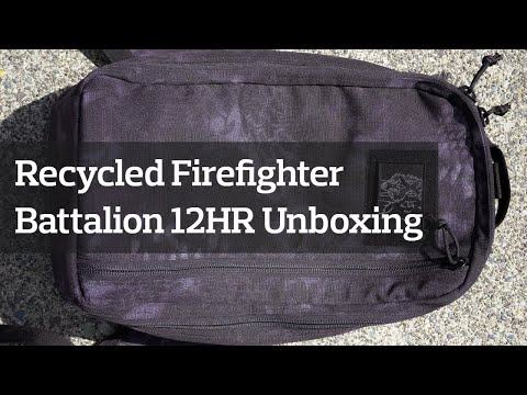 Recycled Firefighter Battalion 12HR Backpack Unboxing & First Look