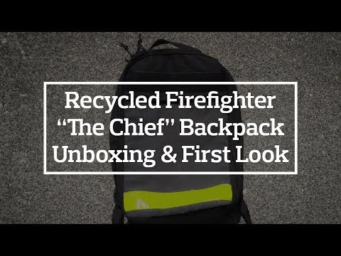 """Recycled Firefighter """"The Chief"""" Backpack Unboxing"""