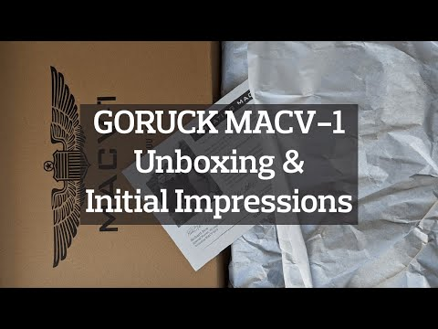GORUCK MACV-1 Boots Unboxing & Initial Impressions