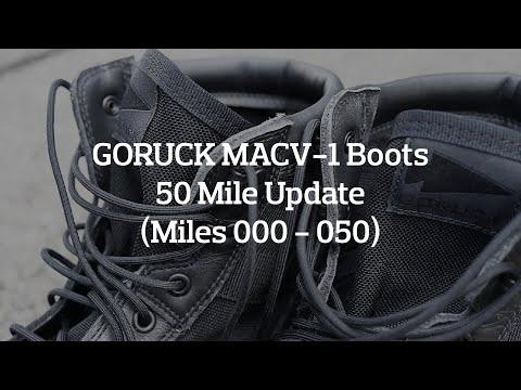 GORUCK MACV-1 Boots 50 Mile Update (Miles 000 - 050)