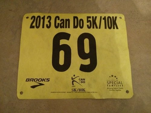 Can Do 10k Race Bib