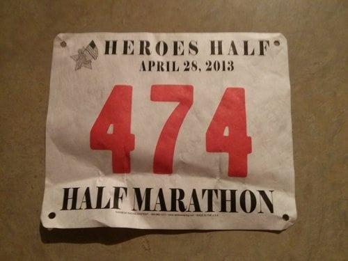 Heroes Half Race Bib