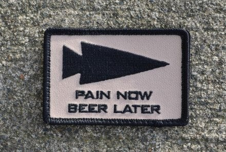 Pain Now Beer Later Patch (Sand)