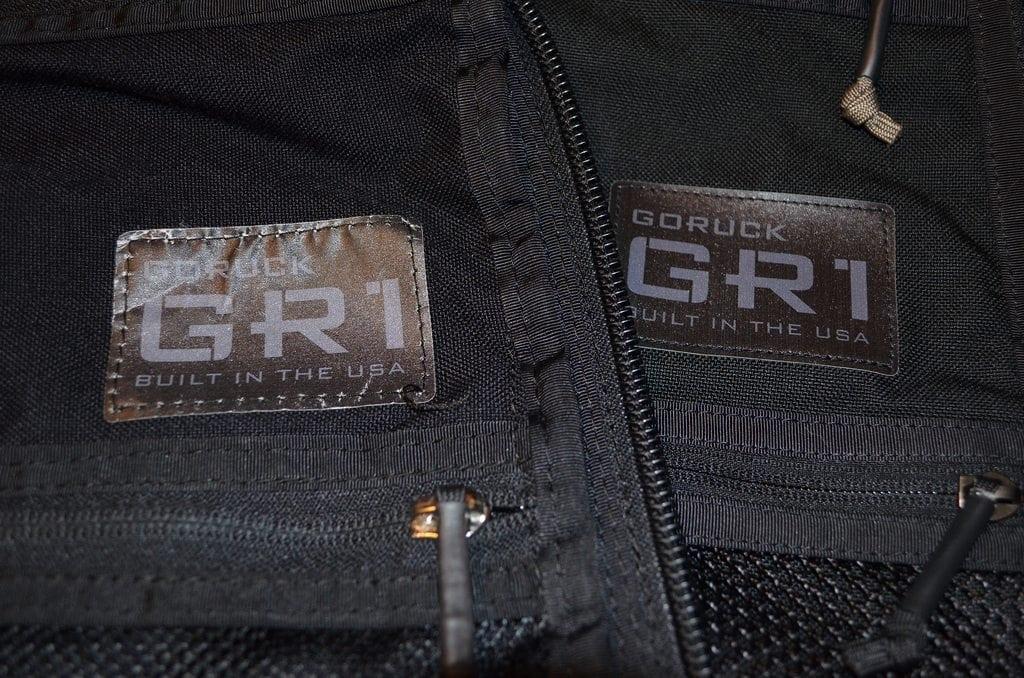 GORUCK GR1 Comparison Labels