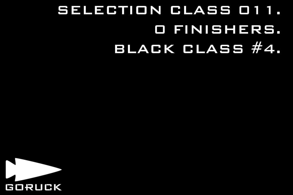 GORUCK Selection 011 Black Class