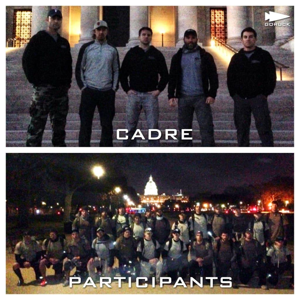 GORUCK Selection Cadre vs Participants