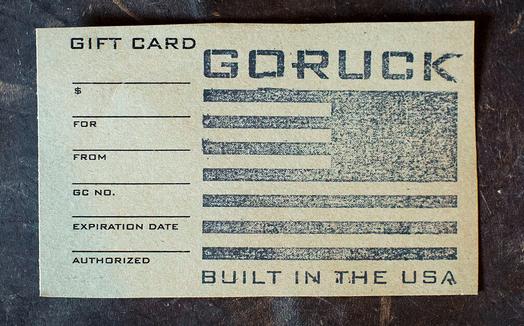 GORUCK Gift Cards