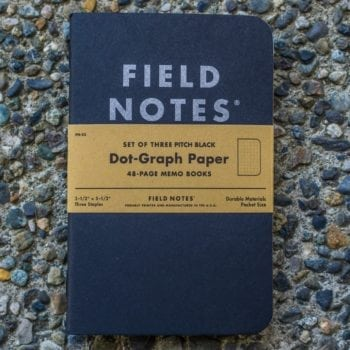 Field Notes Pitch Black Graph (3 Pack)