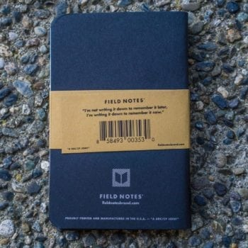 Field Notes Pitch Black Ruled (3 Pack)