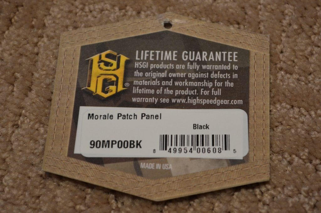 HSG Morale Patch Panel Tag