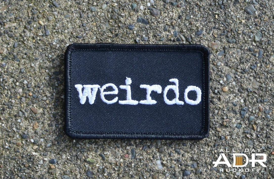 The patch of the week is the Weirdo patch which was purchased off of ...