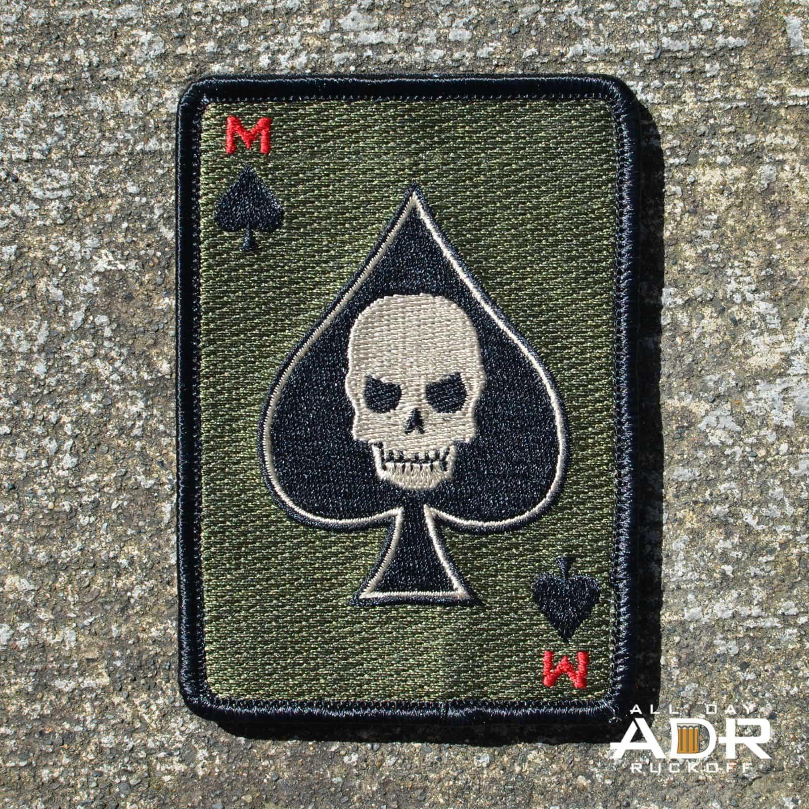 Motus Death Card Patch Dark All Day Ruckoff