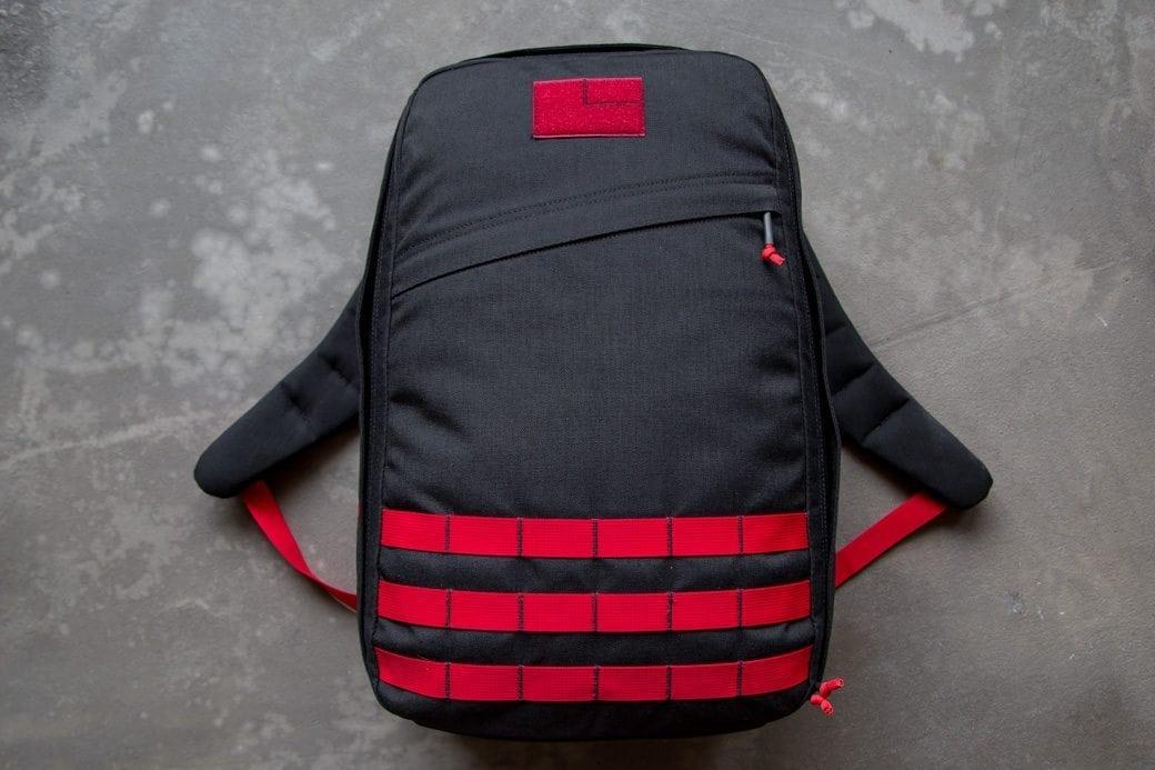 GORUCK GR1 Black Red Front