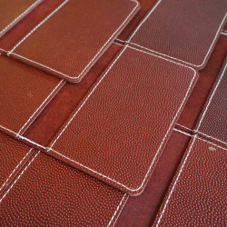 Leather Field Notes Cover - Football Sew Front