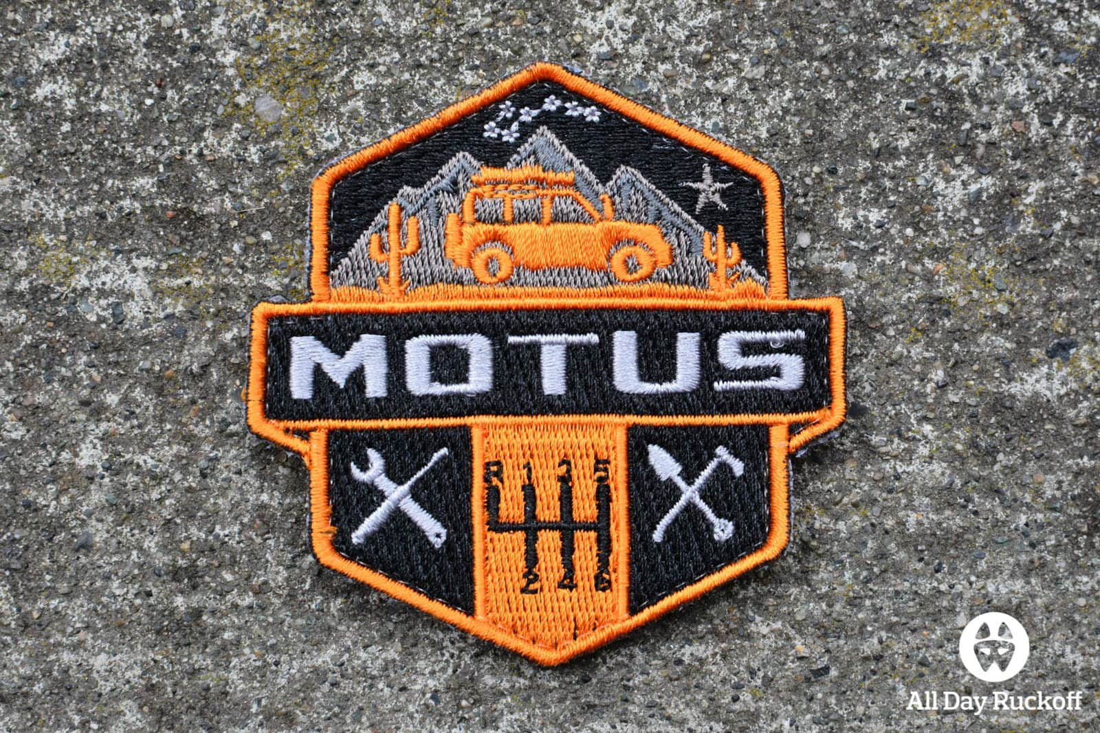 MOTUS Overland Patch 3x2