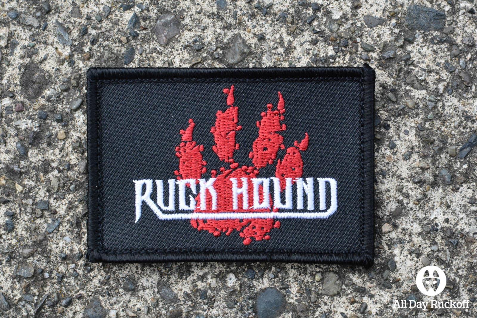 Ruck Hound Paw Print Patch