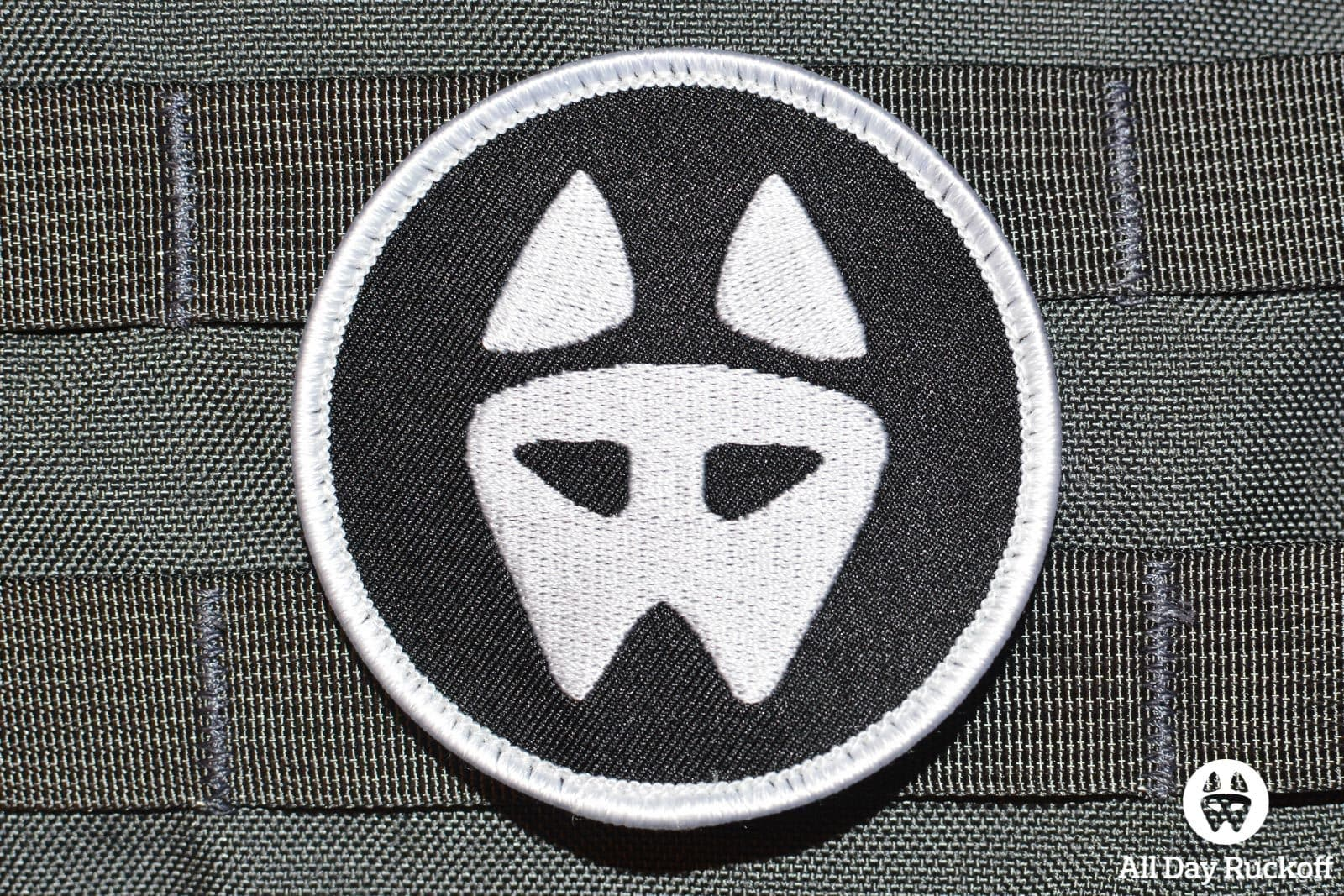 Dog Logo 01: White/Black