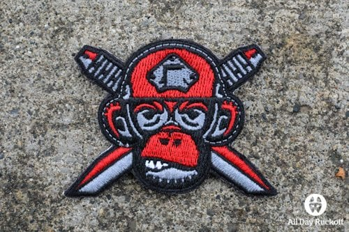 Monkey Edge Knife Logo (Red/Black)