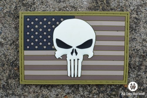 Punisher Skull USA Flag