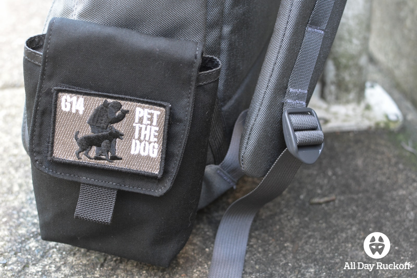 GORUCK Side Pocket Attached Front