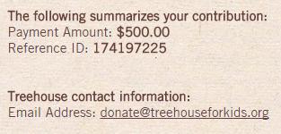 Treehouse Donation Small