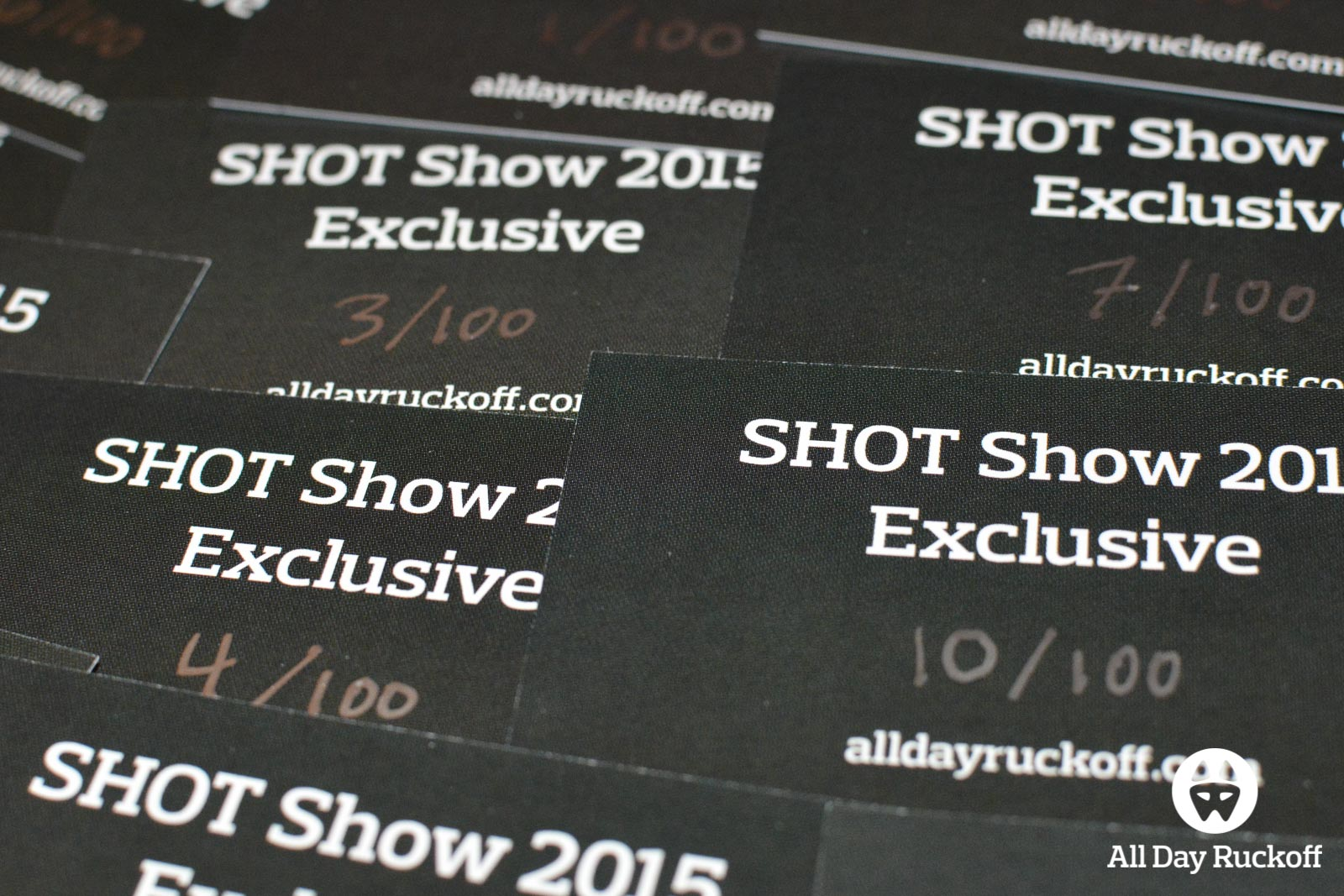 SHOT Show 2015 Exclusive Patch Cards
