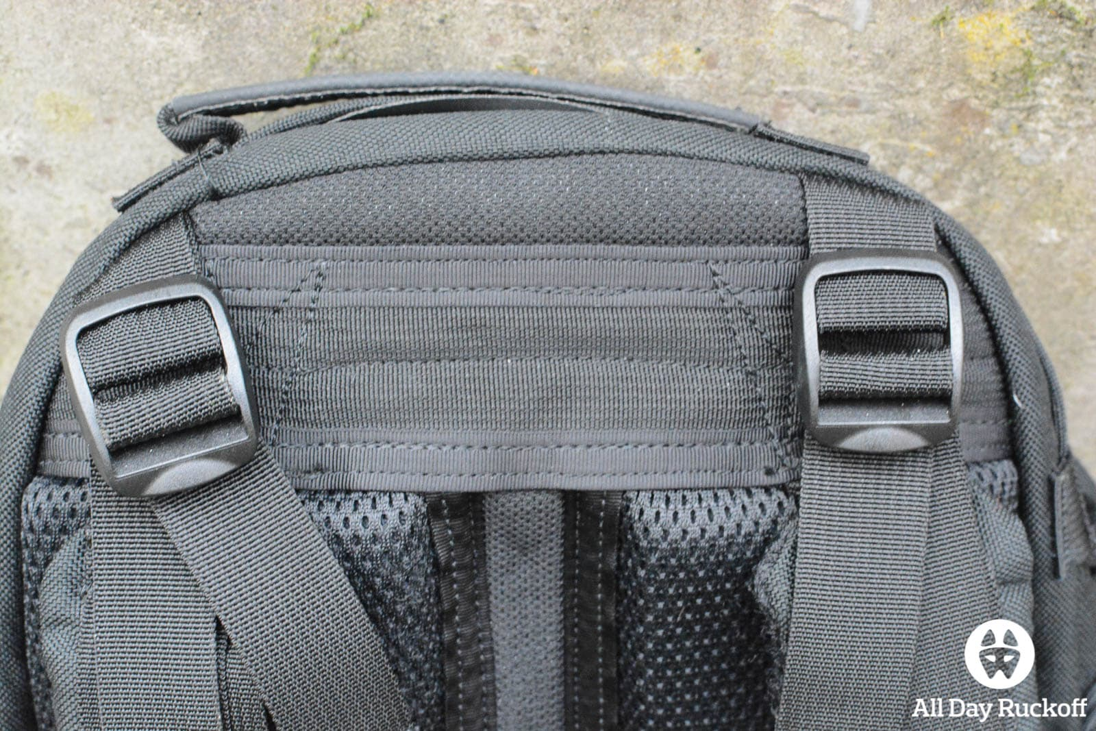 Triple Aught Design Litespeed Review - Back Top Stitching