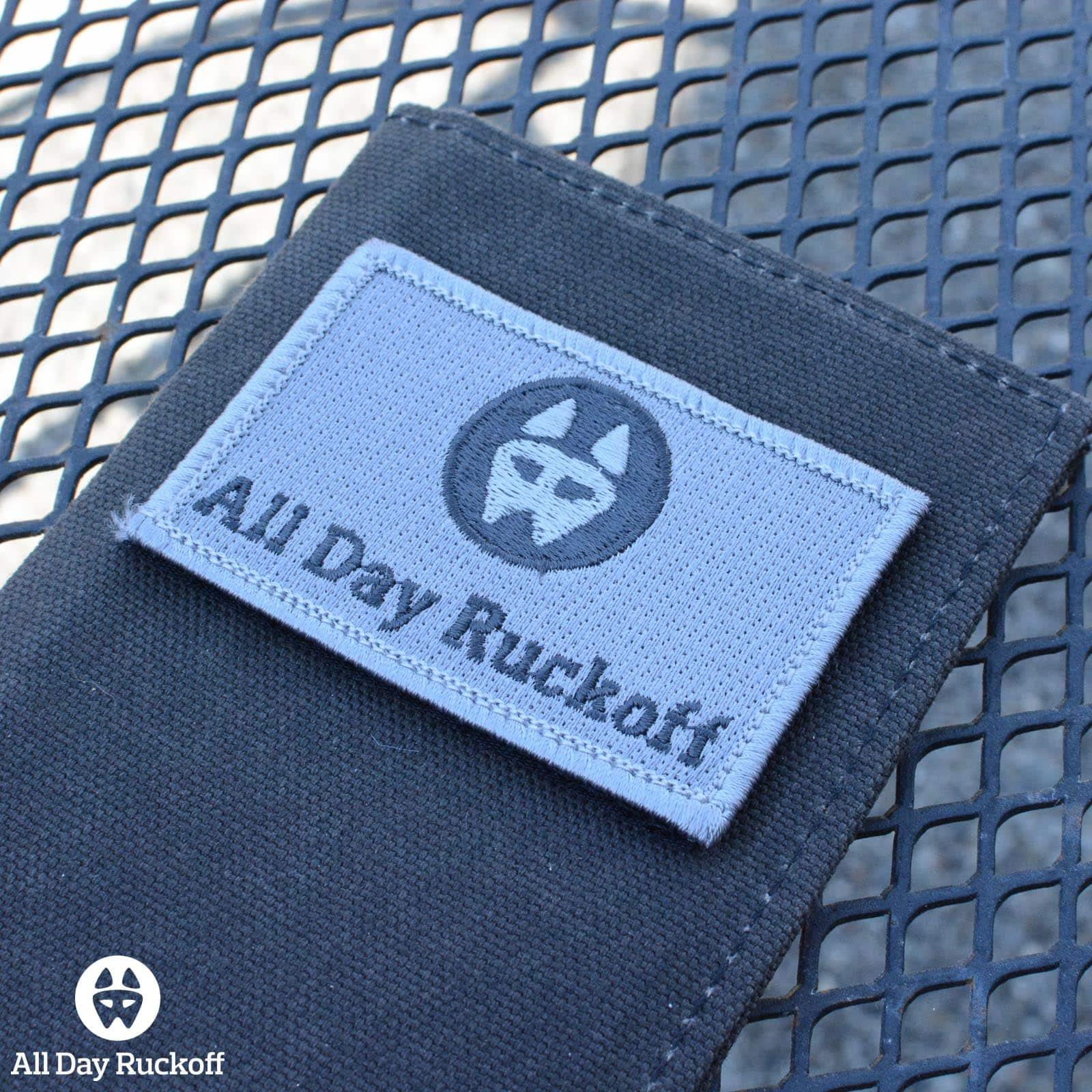 ADR Dog Logo Rectangle Patch - Gray Side