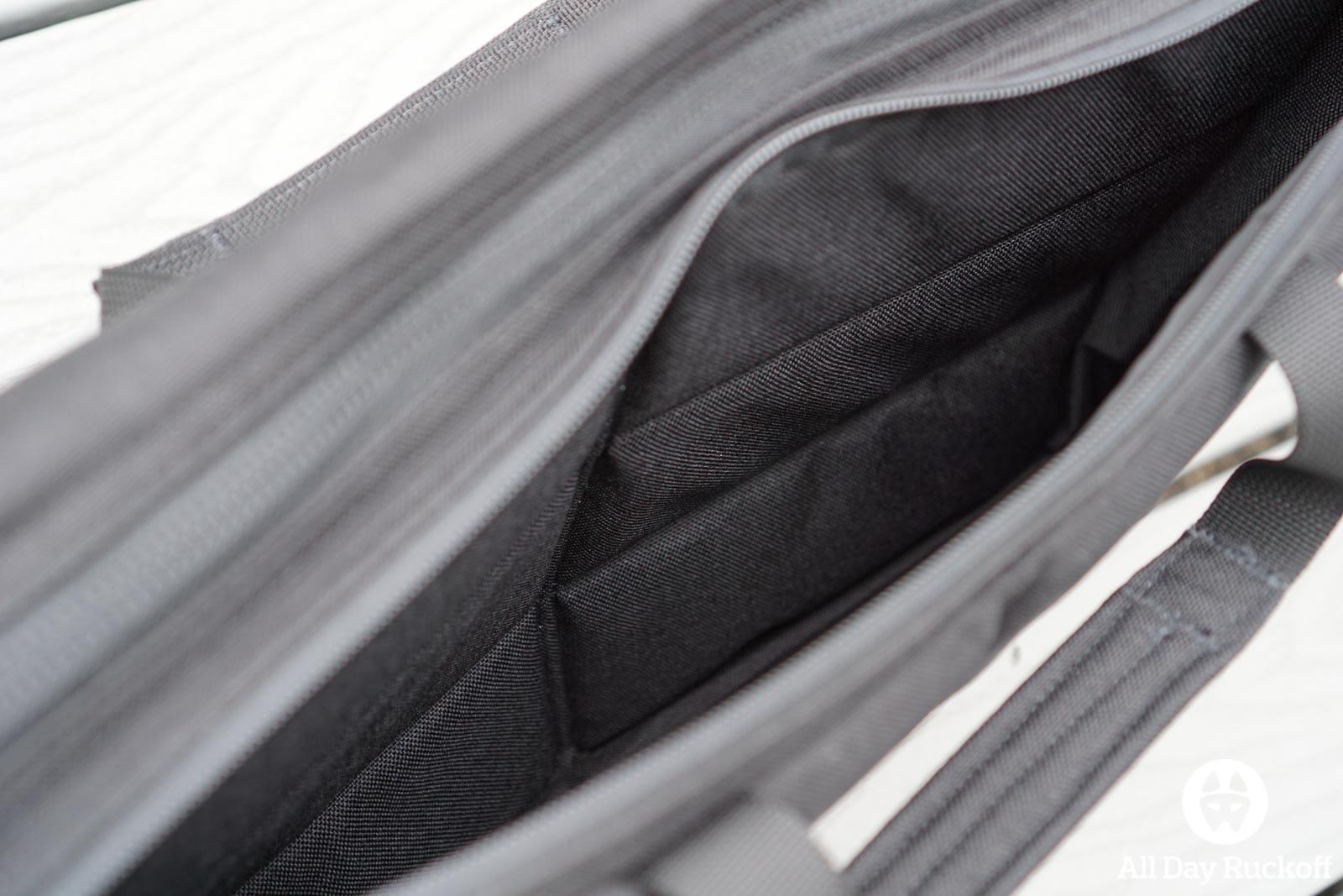 GORUCK Shoulder Bag 15L - Inside Laptop