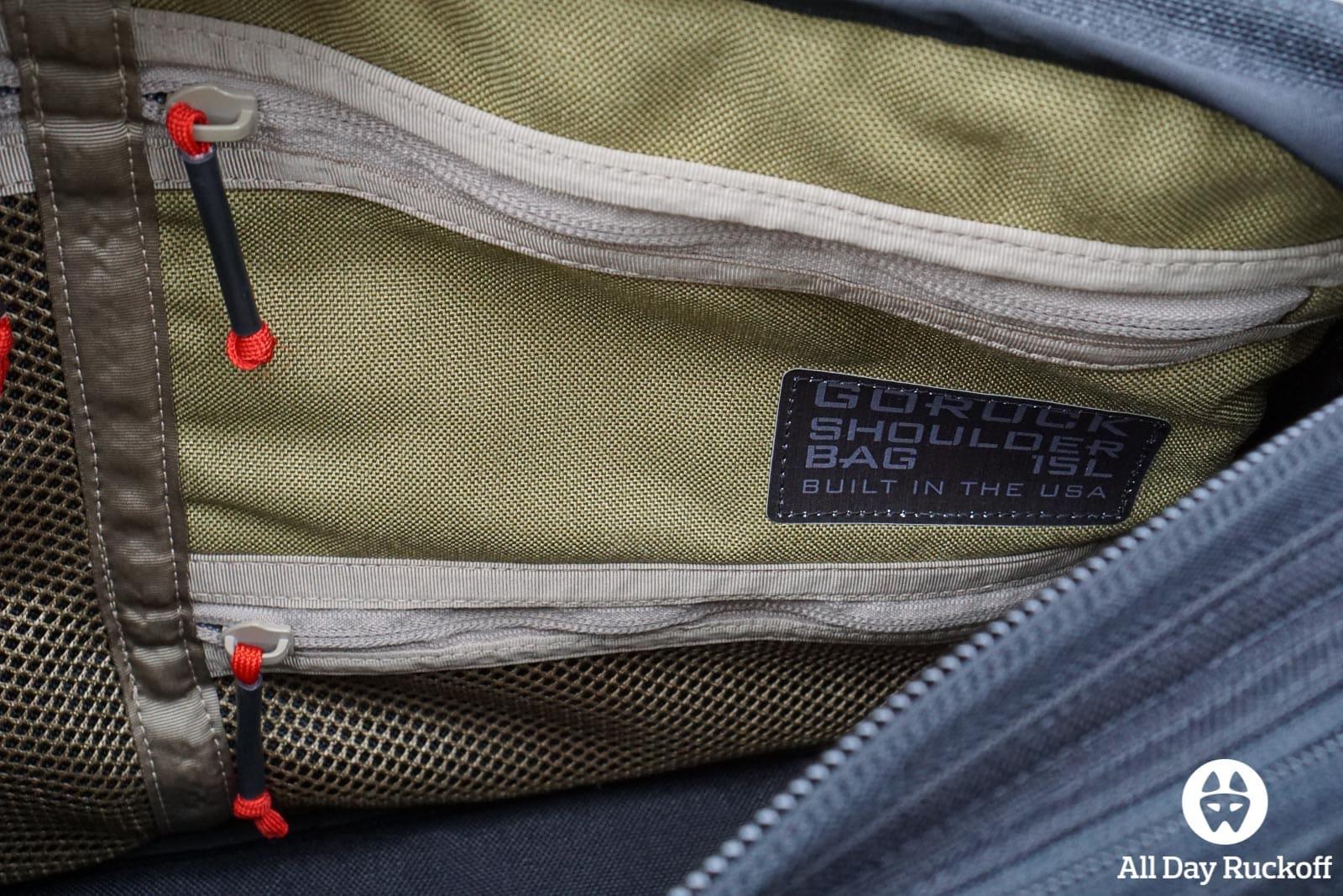 GORUCK Shoulder Bag 15L - Small Pockets