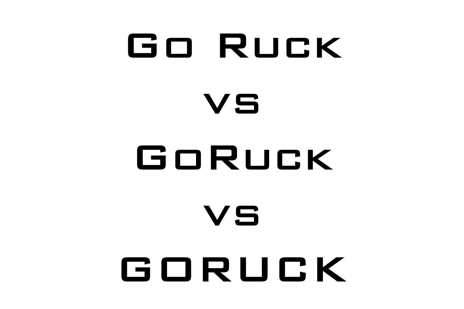goruck-vs-goruck