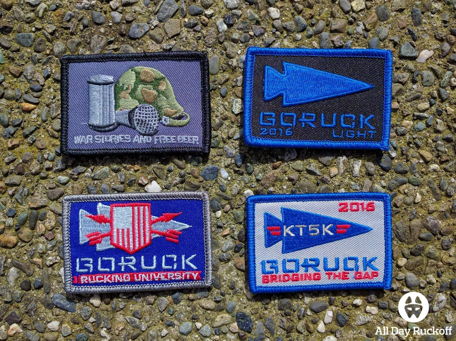 GORUCK Bridging The Gap Weekend - Patches