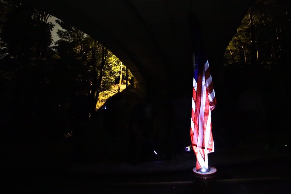 GORUCK Tough 1999 - Flag Under Bridge