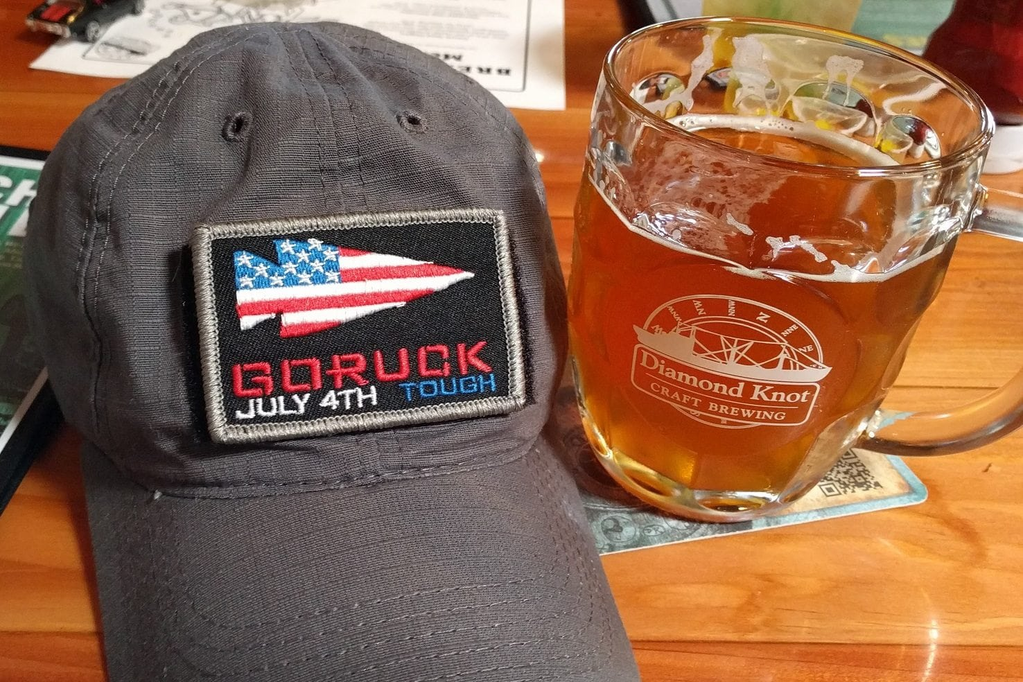 GORUCK Tough 1999 - Patch And Beer