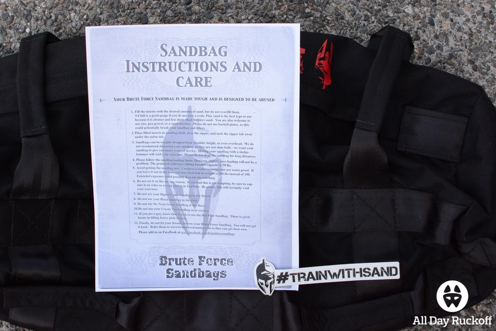 Brute Force Athlete Sandbag - Letter