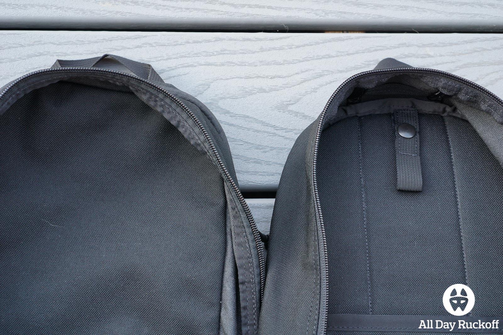 GORUCK Bullet Ruck 10L Comparison - Bladder Adapter
