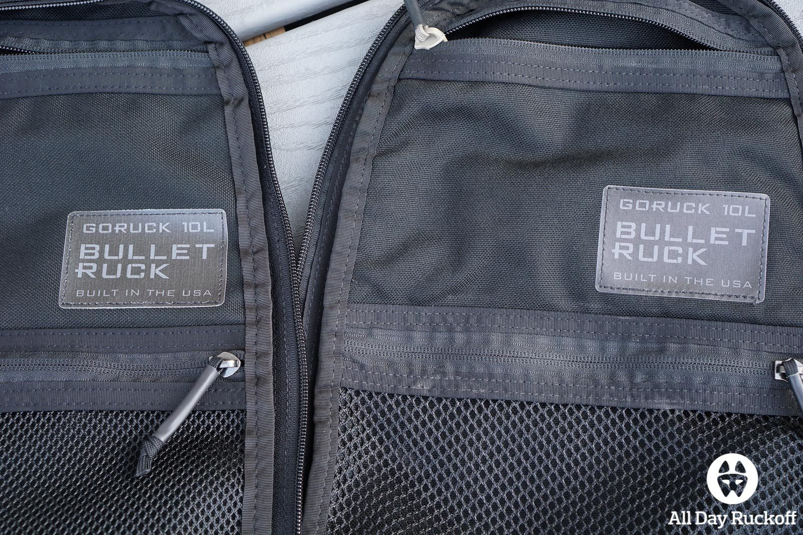 GORUCK Bullet Ruck 10L Comparison - Tags