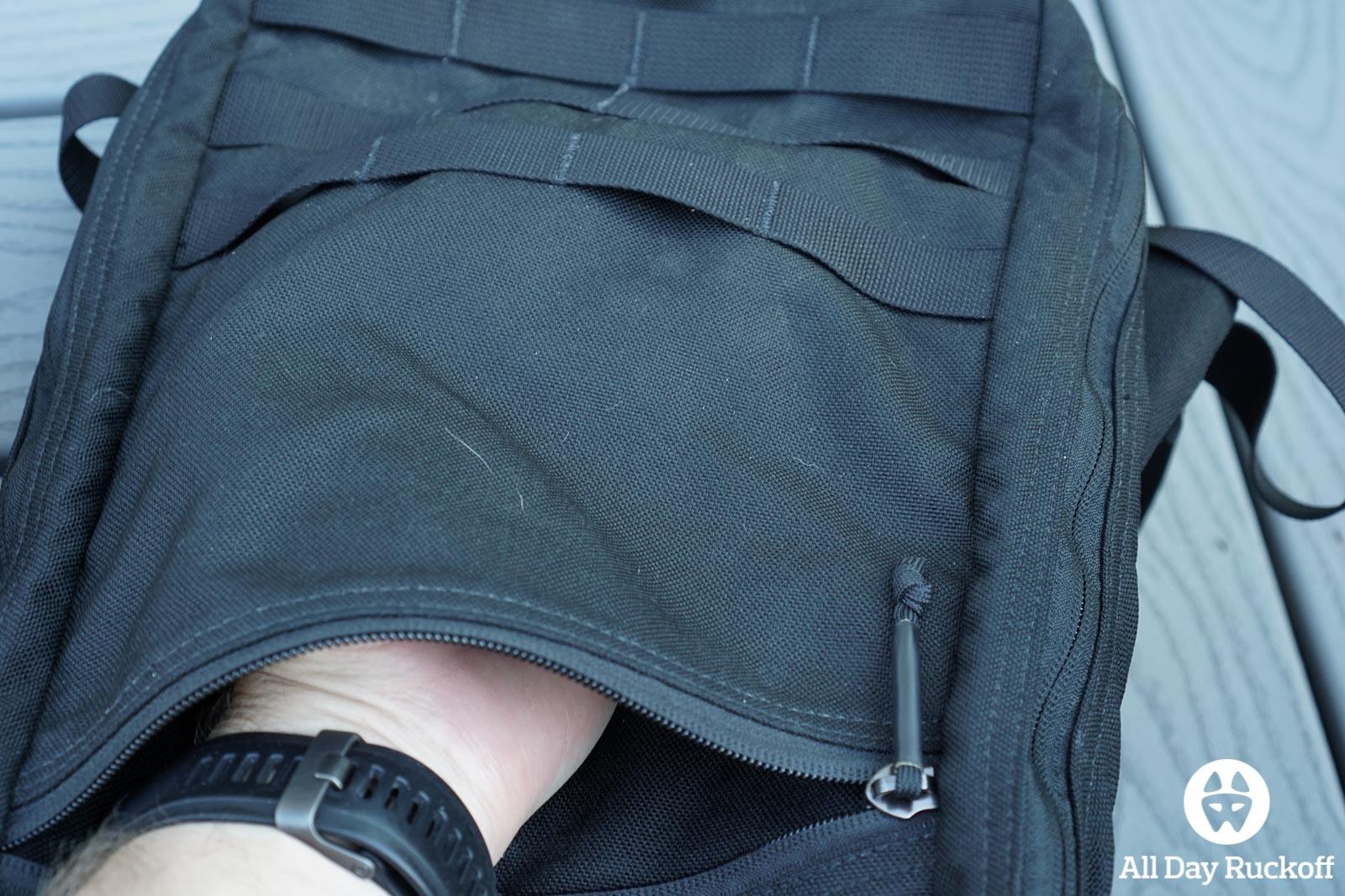 GORUCK Bullet Ruck 10L Comparison - Version 1 Outside Pocket
