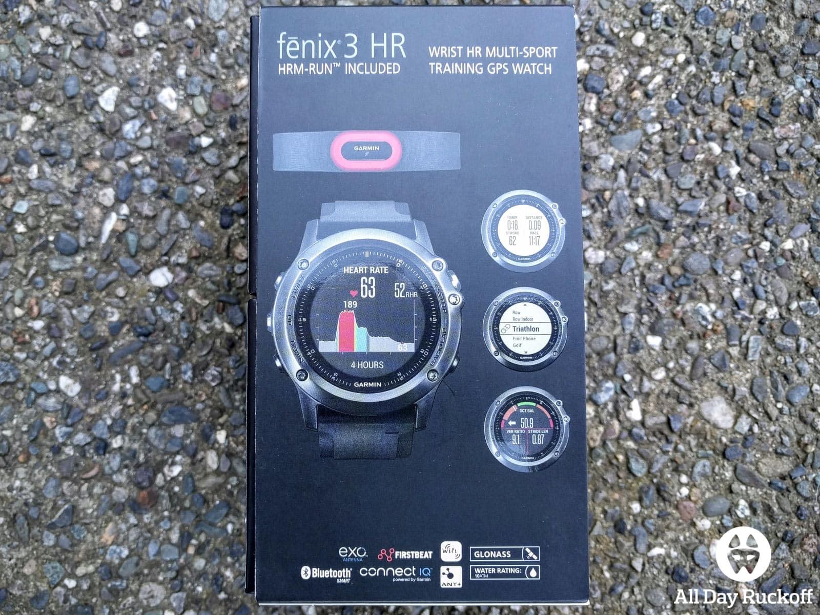 Garmin Fenix 3 HR - Box Back