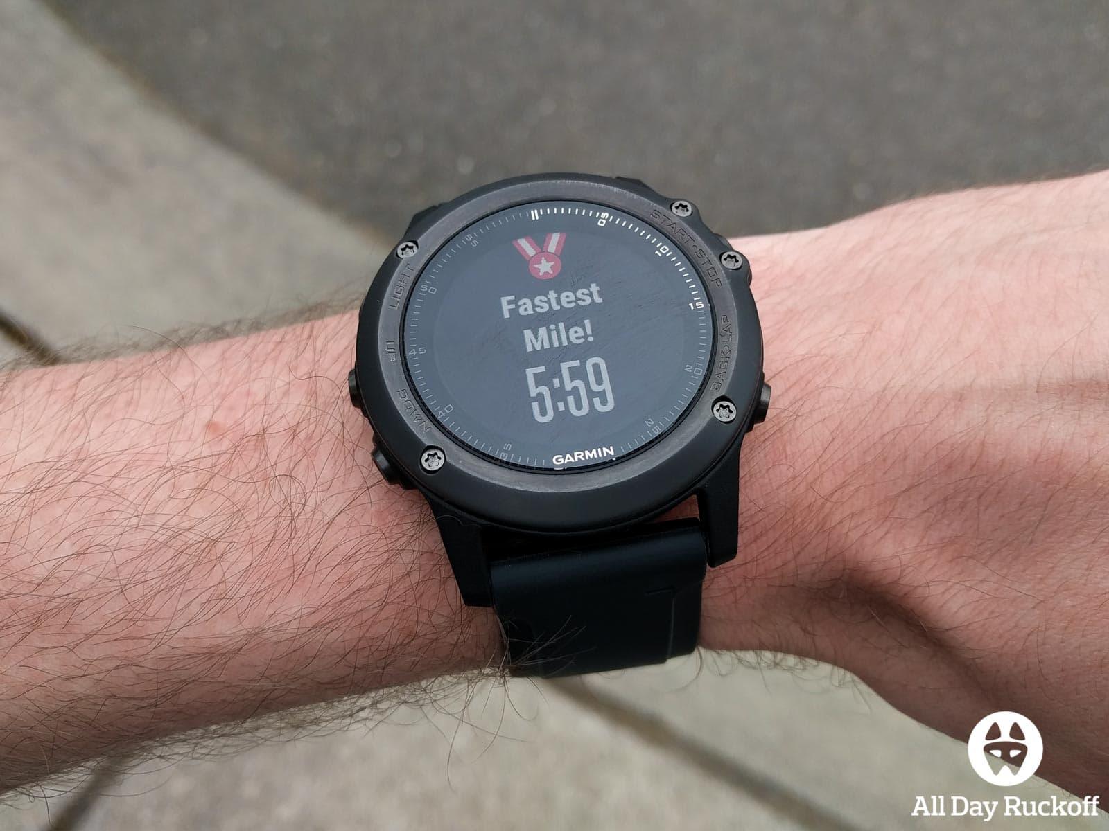Garmin Fenix 3 HR - Fastest Mile
