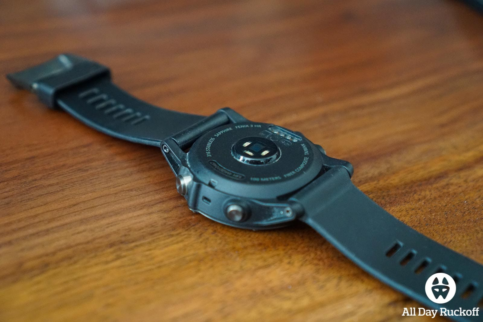 Garmin Fenix 3 HR - Watch Bottom